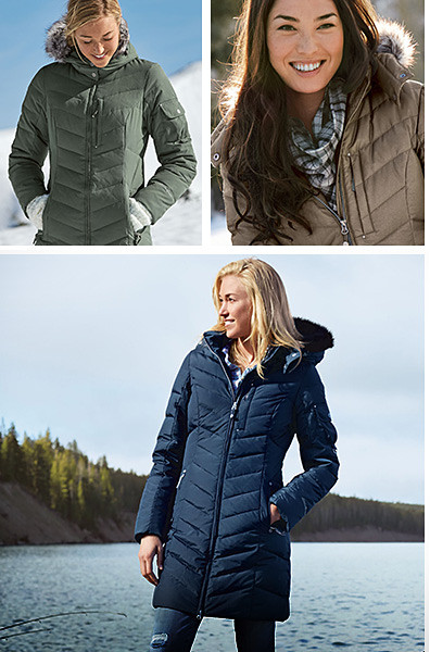 Different colors of the Sun Valley Down Parka