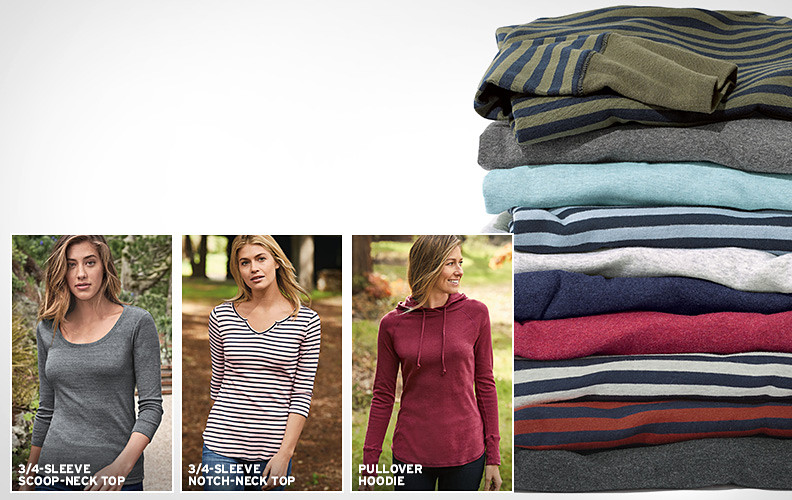 Different colors and patterns of the Favorite T-shirts