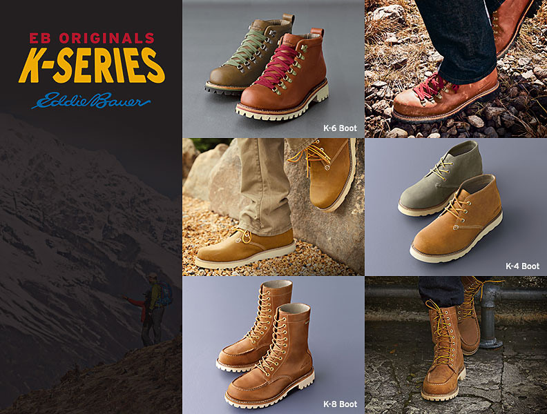 Different styles and colors of K-series boots