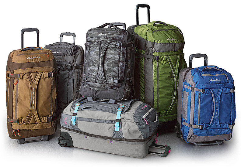 Different sizes, colors and styles of our duffels and luggage