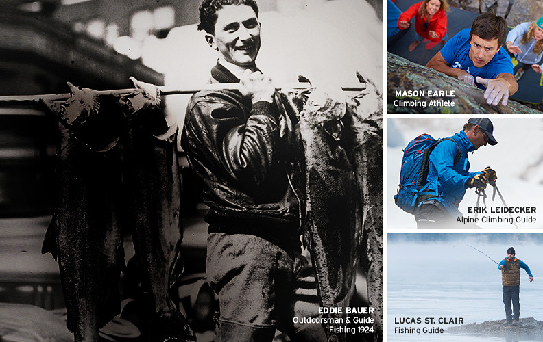 Images of Eddie Bauer and our guides and athletes