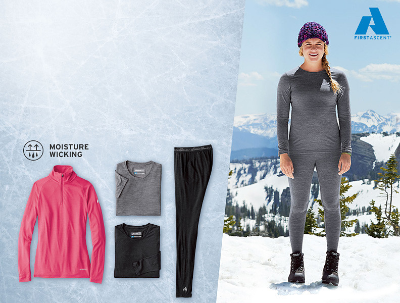Different colors and styles of our Merino Hybrid Baselayers
