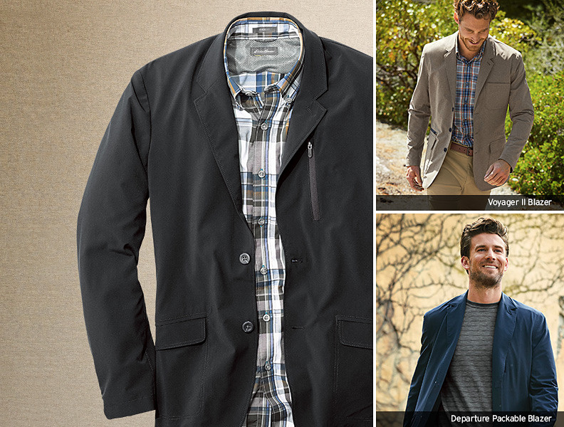 Different colors and styles of Travel Blazers