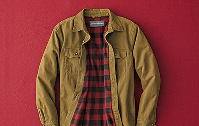 Legend Wash Flannel-Lined Shirt Jacket