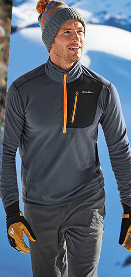 A man wearing a Cloud Layer Pro Fleece Pullover
