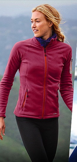 A woman wearing a Cloud Layer Pro Full-Zip Jacket