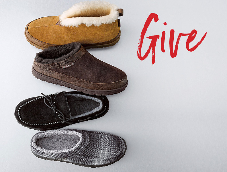 Men's and women's shearling slippers