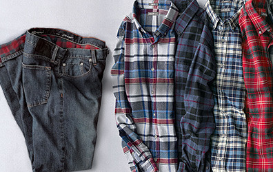 Flannel shirts and flannel-lined pants