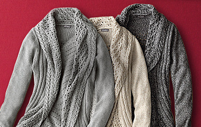 Sweaters in different colors