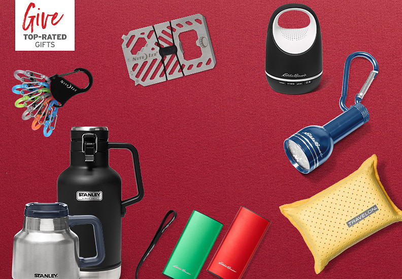 Different gear, gadgets and travel mugs