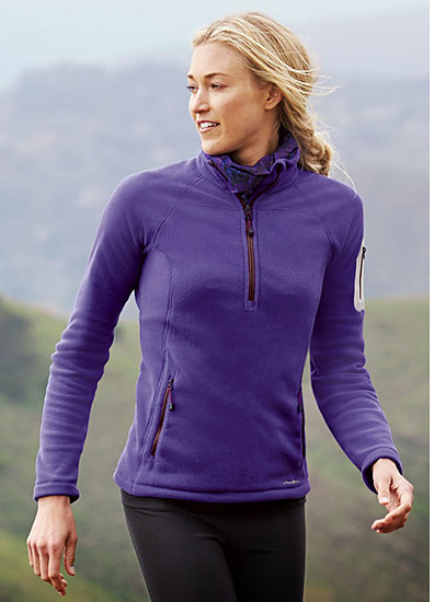 A woman wearing a Cloud Layer Pro Fleece Pullover