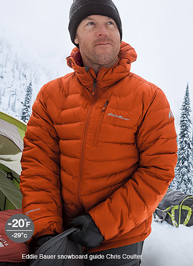 Eddie Bauer snowboard guide Chris Coulter