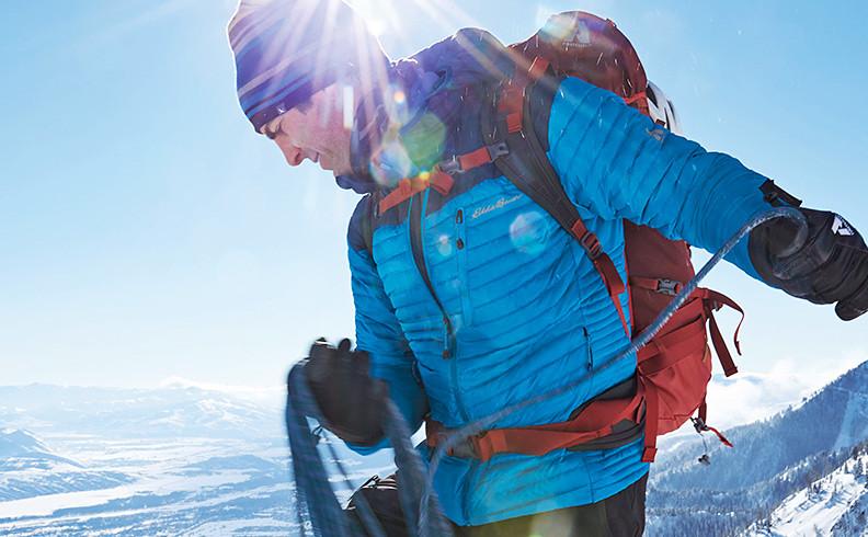 Eddie Bauer alpine guide Kent McBride climbing in Jackson Hole, WY