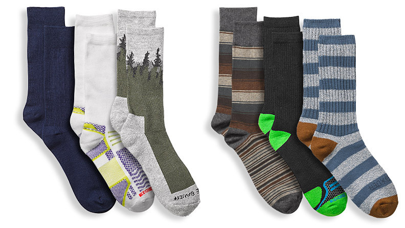 Socks in different colors and prints