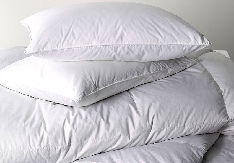 Comforters and pillows
