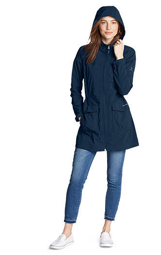 A woman wearing an Atlas 2.0 Trench Coat