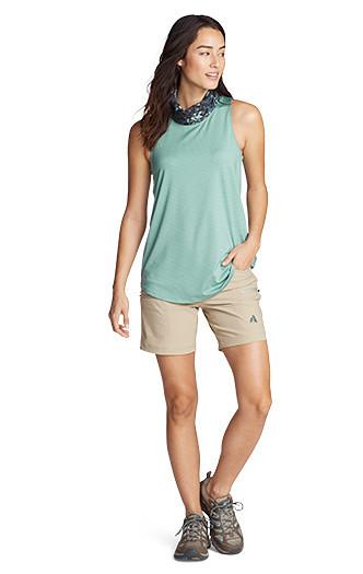 A woman wearing Guide Pro Shorts