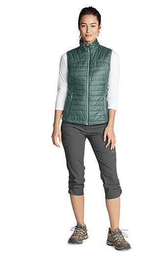 A woman wearing Guide Pro Capris