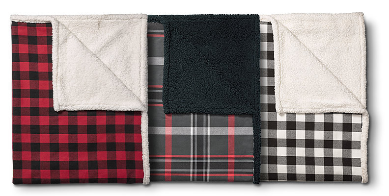 Cabin Flannel Throw in different colors/patterns
