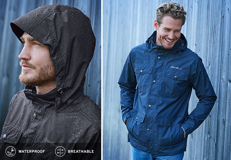 Different colors and features of the Rainfoil Utility Jacket