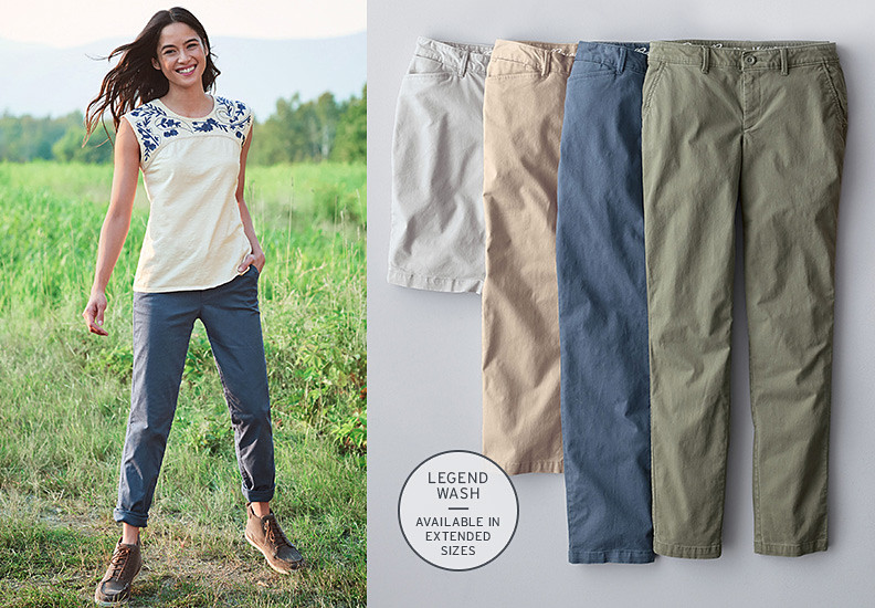 Different colors and styles of Legend Wash Pants