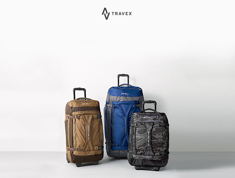 Different colors and features of the Expedition Duffel