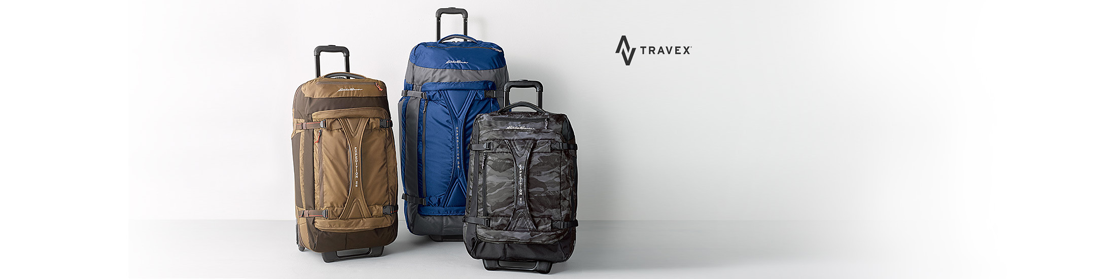 Different colors and sizes of Expedition Rolling Duffels
