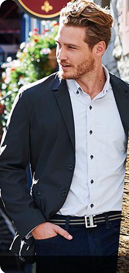A man wearing a Voyager Blazer