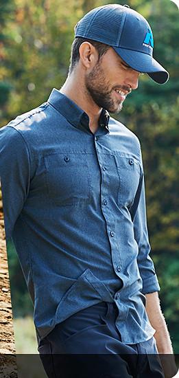 A man wearing a Ventatrex Shirt