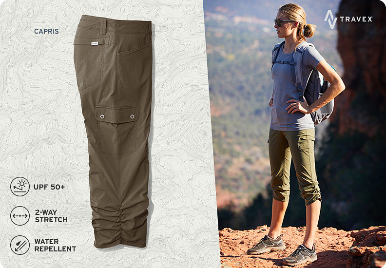 Different colors and styles of Horizon pants and skorts