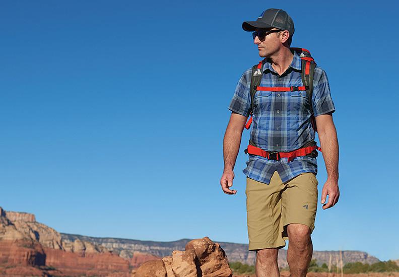 Eddie Bauer alpine climbing guide Seth Waterfall hiking in Sedona, AZ