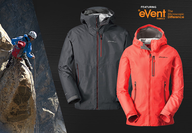 Men's and Women's BC Duraweave Alpine Jacket/A man climbing in A BC Duraweave Alpine Jacket