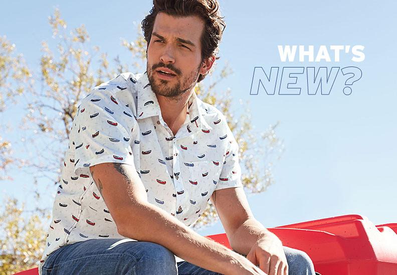 A man wearing a Baja print shirt