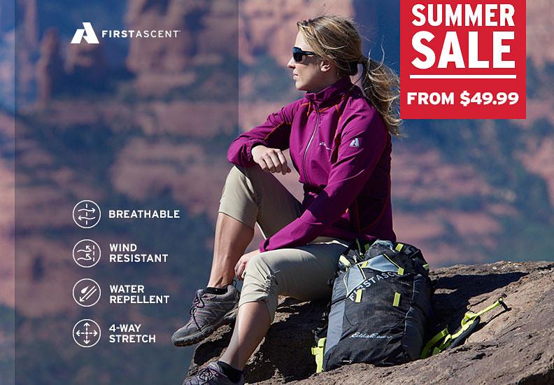 Eddie Bauer alpine climbing guide Melissa Arnot Reid take a break from hiking in the desert