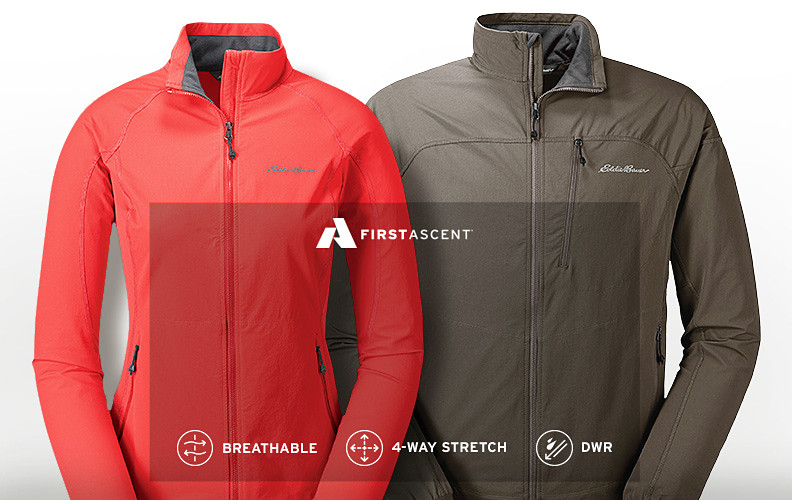 Men's and women's Sandstone Soft Shell Jackets