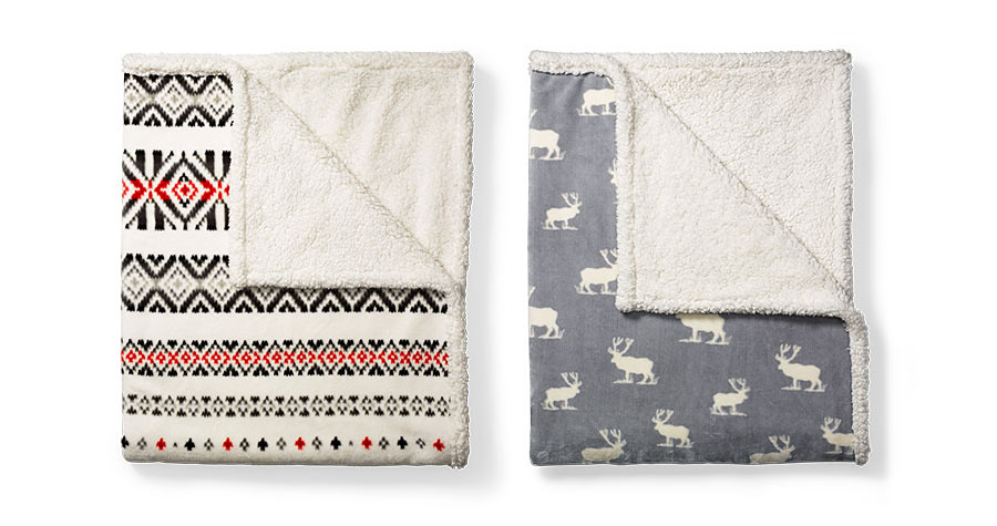 Cabin Fleece Throw in different colors/patterns