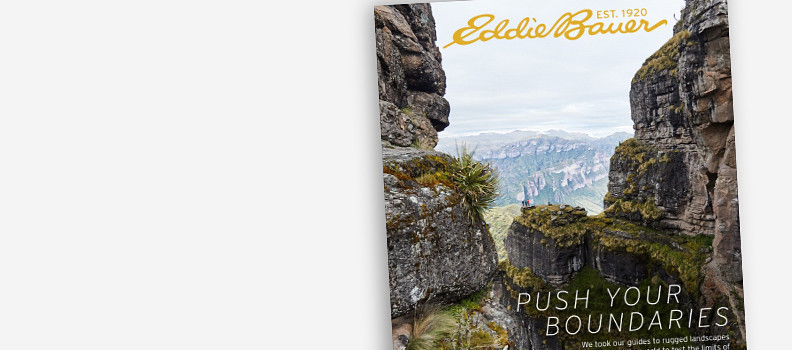 Image of Lookbook cover showing rugged scenery