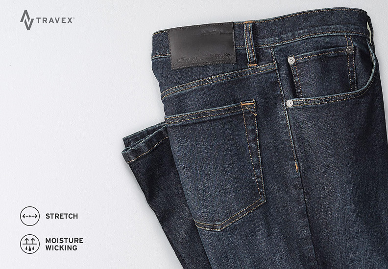 Folded pair of Voyager Flex Jeans