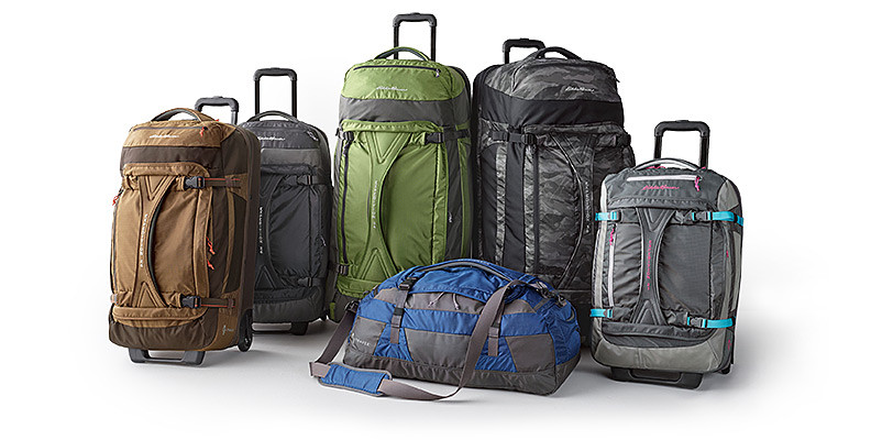 Six Expedition packs in various sizes & colors.
