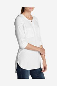 Tall Tops: Women's Tranquil Popover Top with Embroidery