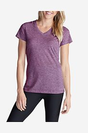 Purple Tops: Women's Resolution V-Neck T-Shirt