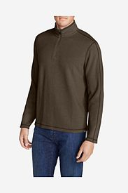 Brown Shirts: Men's Kachess 1/4-Zip Mock Shirt