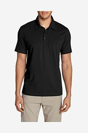 Cotton Polo Shirts: Men's Lookout Short-Sleeve Polo Shirt - Solid