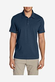 Blue Polo Shirts: Men's Lookout Short-Sleeve Polo Shirt - Solid