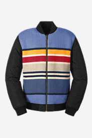 Reversible Jackets for Men: Men's Eddie Bauer X Pendleton Reversible 1936 Skyliner Model Jacket