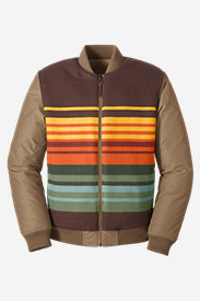 Quilted Jackets for Men: Men's Eddie Bauer X Pendleton Reversible 1936 Skyliner Model Jacket