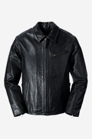 Big & Tall Jackets for Men: Men's Leather Journeyman Bomber Jacket