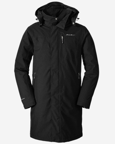 Water Resistant Jackets for Men: Men's Mainstay Insulated Trench Coat