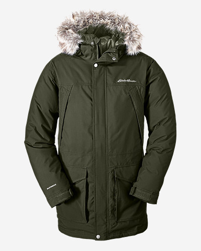 Water Resistant Jackets for Men: Men's Superior Down Parka
