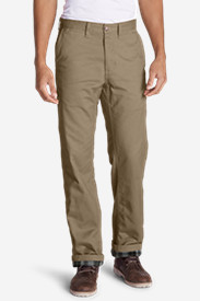 Insulated Pants for Men: Men's Flannel-Lined Cargo Pants